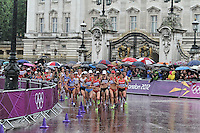 LONDON - AUGUST 05: Women's Olympic Marathon, Buckingham Palace, London, UK. August 05, 2012. (Photo by Richard Goldschmidt)