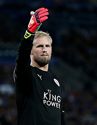 Kasper Schmeichel of Leicester City gestures - Mandatory by-line: Matt McNulty/JMP - 27/09/2016 - FOOTBALL - King Power Stadium - Leicester, England - Leicester City v FC Porto - UEFA Champions League