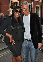 LONDON - August 08: Mica Paris & Mark Foster at OMEGA House Presents 'Athletics Night' Party (Photo by Brett D. Cove)