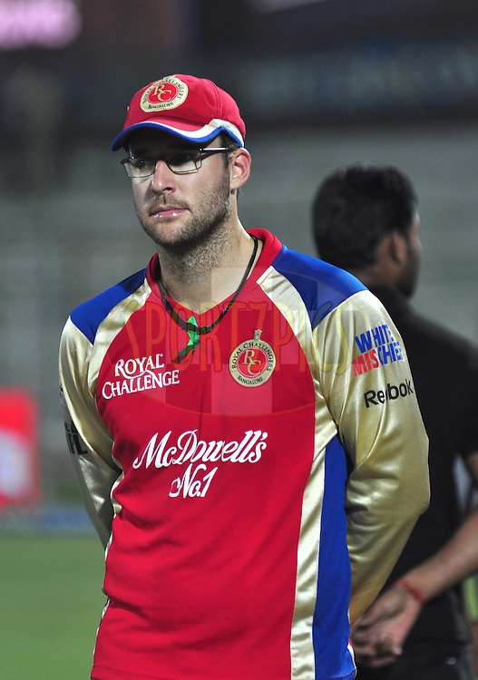 during match 30 of the the Indian Premier League ( IPL) 2012  between The Rajasthan Royals and the Royal Challengers Bangalore held at the Sawai Mansingh Stadium in Jaipur on the 23rd April 2012..Photo by Arjun Panwar/IPL/SPORTZPICS