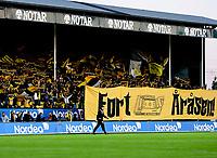 Fotball , 22. september 2008 , Eliteserien , Tippeligaen , Lillestrøm - Brann 1-1<br /> illustrasjon kanarifansen , Kanari-fans , supporter , supportere , fan , fans