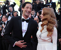 59675526  .US actress Jessica Chastain (R) and actor Adrien Brody arrive  for the screening of the American film Behind the Candelabra presented in Competition at the 66th edition of the Cannes Film Festival in Cannes, southern France, May 21, 2013. Photo by: imago / i-Images. UK ONLY