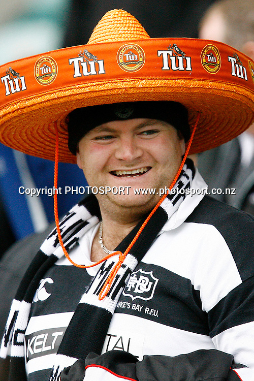 A Hawkes Bay's supporter enjoying the action. Air NZ Cup Rugby Union Match. North Harbour v Hawkes Bay. North Harbour Stadium, Albany, Auckland, New Zealand. Saturday 12th September 2009. Photo: Anthony Au-Yeung/PHOTOSPORT