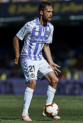 September 30, 2018 - Vila-Real, Castellon, Spain - Michel of Real Valladolid in action during the La Liga match between Villarreal CF and Real Valladolid at Estadio de la Ceramica on September 30, 2018 in Vila-real, Spain  (Credit Image: © David Aliaga/NurPhoto/ZUMA Press)