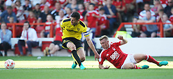 John Mousinho of Burton Albion (L) and Ben Osborn of Nottingham Forest in action - Mandatory by-line: Jack Phillips/JMP - 06/08/2016 - FOOTBALL - The City Ground - Nottingham, England - Nottingham Forest v Burton Albion - EFL Sky Bet Championship