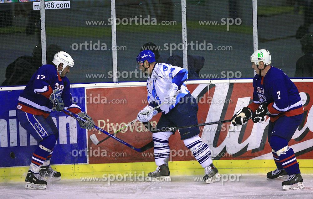 Zvone Suvak, Evgeny Chizhmin and Bojan Zajc at friendly ice-hockey game Slovenia Oldies vs Gazprom Export (Russia), on October 24, 2008 in Hala Tivoli, Ljubljana, Slovenia. Gazprom Export won 6:3.(Photo by Vid Ponikvar / Sportal Images)