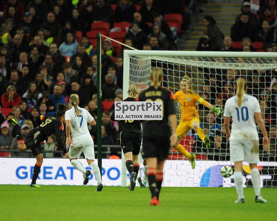Germanys Celia Sasic Scores Germanys Third Goal, England v Germany Ladies, Breast Cancer Care International, Wembley , Sunday 23rd November 2014