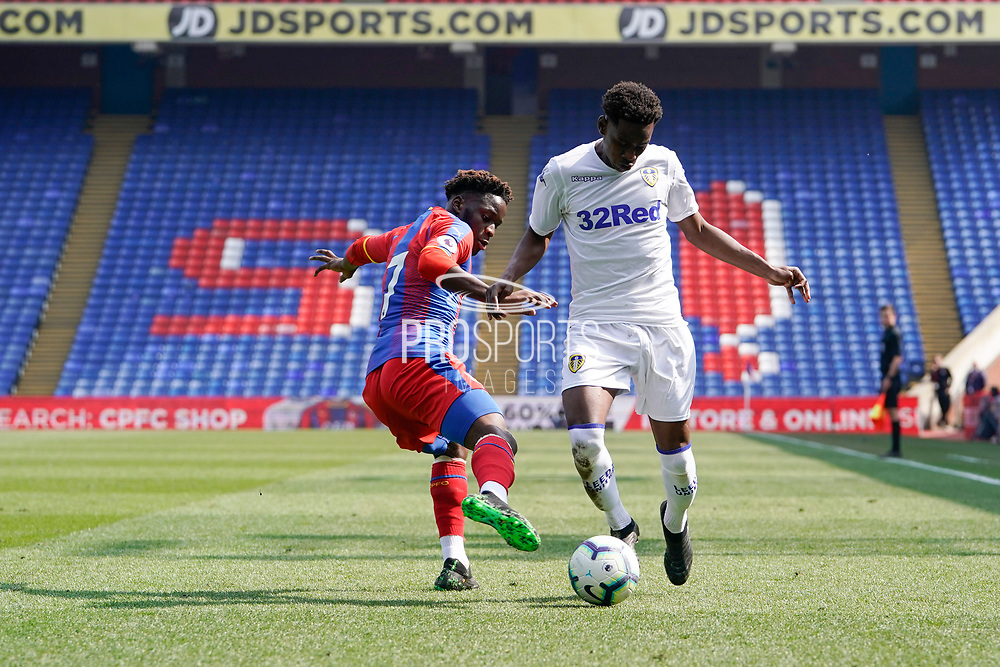 Clarke Oduor of Leeds U23 in action during the U23 Professional Development League match between U23 Crystal Palace and Leeds United at Selhurst Park, London, England on 15 April 2019.