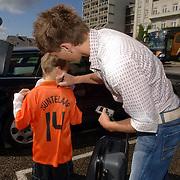 NLD/Noordwijk/20060829 - Nederlands Elftal komt bijeen voor de wedstrijd tegen Luxemburg, Klaas Jan Huntelaar