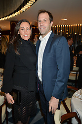 GREG & LUCY RUSEDSKI at a dinner hosted by AA Gill & Nicola Formby in support of the Borne charity held at Rivea at the Bulgari Hotel, Knightsbridge, London on 3rd February 2015.