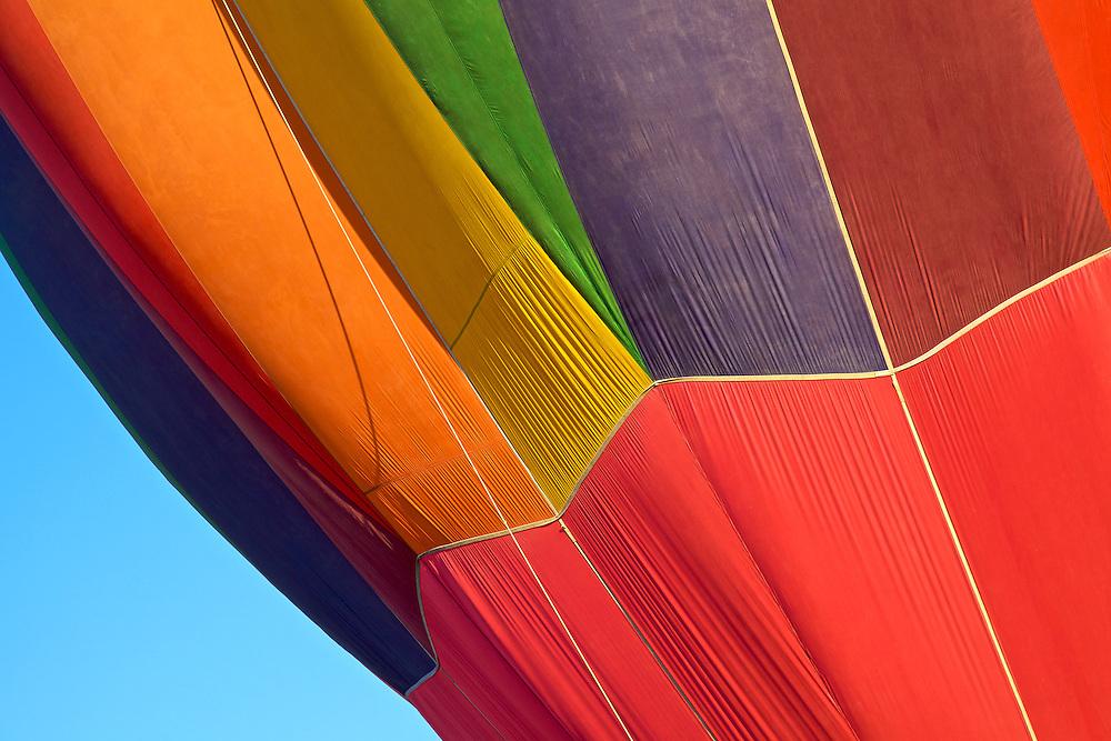 Colorful balloon abstract taken at the Albuquerque Balloon Fiesta