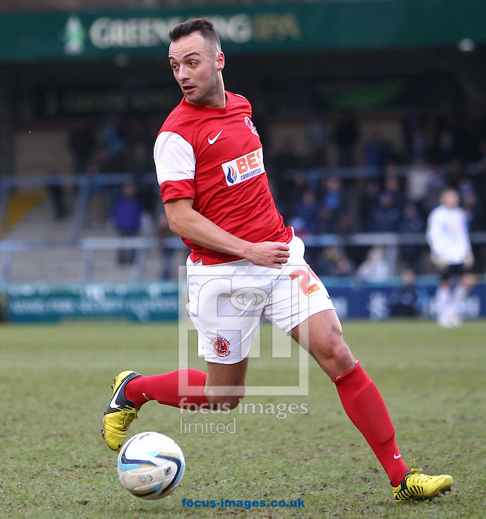 Picture by John  Rainford/Focus Images Ltd +44 7506 538356.02/03/2013.Ryan Crowther of Fleetwood Town during the npower League 2 match at Adams Park, High Wycombe.