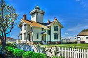 San Pedro CA; Point Fermin; lighthouse; Historic Site and Museum; Park; San Pedro; California.