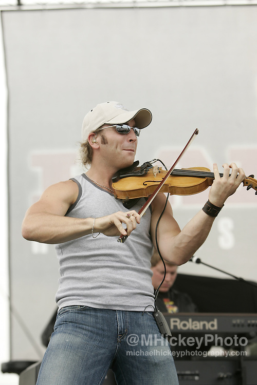 Country music group Emerson Drive performs at the Indianapolis Motor Speedway on August 6, 2005 in Indianapolis, IN. Photo by Michael Hickey