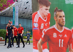 NANNING, CHINA - Monday, March 26, 2018: Wales' Sam Vokes during a team walk near the Wanda Realm Resort on day seven of the 2018 Gree China Cup International Football Championship ahead of the final against Uruguay. (Pic by David Rawcliffe/Propaganda)