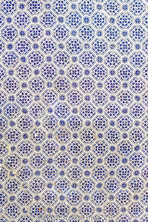 A traditional predominantly blue pattern design.