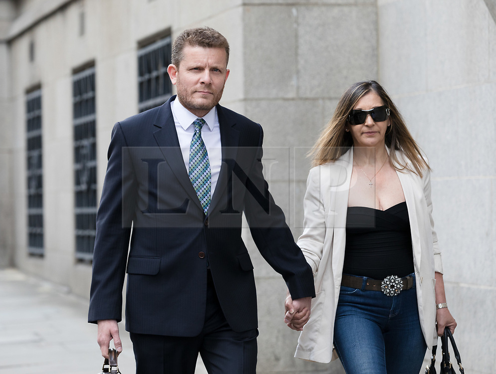 © Licensed to London News Pictures. 07/06/2017. LONDON, UK.  ADAM HUTCHESON, Gordon Ramsay's brother-in-law arrives at the The Old Bailey in London for sentencing after admitting hacking into celebrity chef, Gordon Ramsay's computer. Chris Hutcheson, 68 and two of his children - Adam Hutcheson, 46 and Chris Hutcheson Jnr, 37 were charged with the same offence after they were arrested under Operation Tuleta..  Photo credit: Vickie Flores/LNP