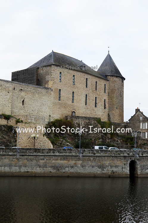 France, Mayenne, The fortress, now a museum Musee Chateau Mayenne