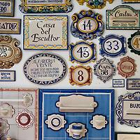 Ceramics shop 'Gabriel Garcia Hernandez: Escultura, Decoracion, Ceramica', Antillano Campos 10, Sevilla, +954-33-35-99. Seville, Andalusia, Spain.