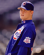 CHICAGO - 1998:  Kerry Wood of the Chicago Cubs looks on during an MLB game at Wrigley Field in Chicago, Illinois during the 1998 season. (Photo by Ron Vesely) Subject:   Kerry Wood