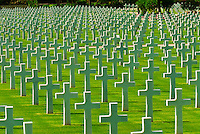 2,841 graves at the North Africa American Cemetery, Sidi Bou Said (Tunis), Tunisia.