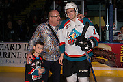 KELOWNA, CANADA - DECEMBER 27:  Macdermotts Player of the month Presentation to Jake Kryski #14 of the Kelowna Rockets at the Kelowna Rockets game on December 27, 2016 at Prospera Place in Kelowna, British Columbia, Canada.  (Photo By Cindy Rogers/Nyasa Photography,  *** Local Caption ***