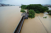 JINHUA, CHINA - JUNE 22: (CHINA OUT) <br /> <br /> Floods In China<br /> <br /> The picture shows the flooded area at Zhongzhou Park of Lanxi city (a county-level city under the administration of the prefecture-level city Jinhua) after hit by torrential rains on June 22, 2014 in Jinhua, Zhejiang province of China. China's Lanxi city has came across the first flood peak of 2014 on June 22 with the warning water level of 29.65 meters.<br /> ©Exclusivepix