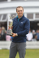 Jordan Spieth<br /> After winning with the trophy