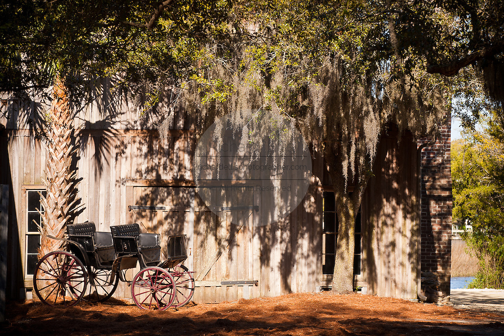 Old Cotton Dock at Boone Hall Plantation in Charleston, SC.