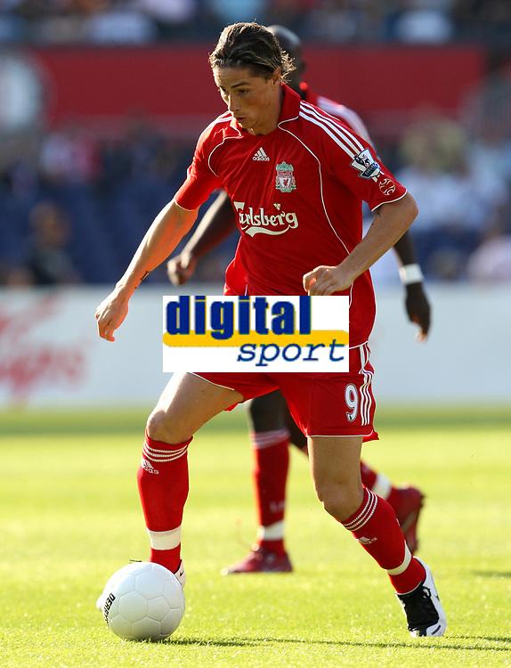Photo: Maarten Straetemans.<br /> Shanghai Shenhua v Liverpool. Rotterdam Tournament. 03/08/2007.<br /> Sebastian Leto (Liverpool)