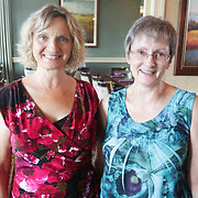 Patti Riley, left, and Janice LaGala pose for a photo during Juice, Jazz & Java Saturday September 6, 2014 at Cape Fear National Golf Course in Leland, N.C. (Jason A. Frizzelle)