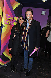DUNCAN STIRLING and ZOE COPSEY at a private screening of the film The Iron Lady hosted by nightclub Maggie's held at Cineworld, King's Road, London on 19th January 2012.
