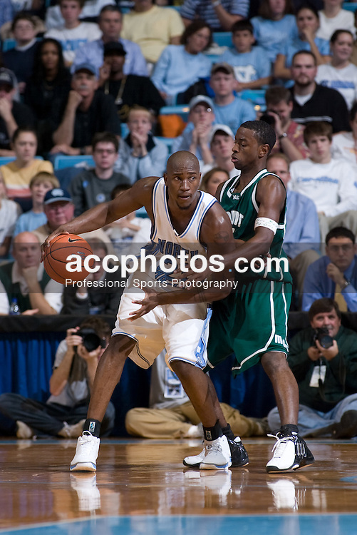12 November 2004: North Carolina Tar Heels forward Jawad Williams (21) in a 100-69 win over Mount Olive in Chapel Hill, NC
