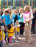 Zoetermeer, 22-05-2015 <br /> <br /> Queen Maxima opened the new building of Kentalis, an institute for deaf children.<br /> <br /> Photo:Royalportraits Europe/Bernard Ruebsamen