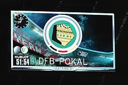 16.04.2013, Allianz Arena, Muenchen, GER, DFB Pokal, FC Bayern Muenchen vs VfL Wolfsburg, Halbfinale, im Bild DFB-POKAL Anzeigentafel // during German DFP Pokal Halffinal match between FC Bayern Munich and VfL Wolfsburg at the Allianz Arena, Munich, Germany on 2013/04/16. EXPA Pictures © 2013, PhotoCredit: EXPA/ Eibner/ Klobert ***** ATTENTION - OUT OF GER *****