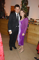 Artist JONATHAN YEO and SHEBAH RONAY at a fundraising gala to celebrate 150 years of The National Portrait Gallery, at the NPG, St.Martin's Place, London on 28th February 2006.<br />