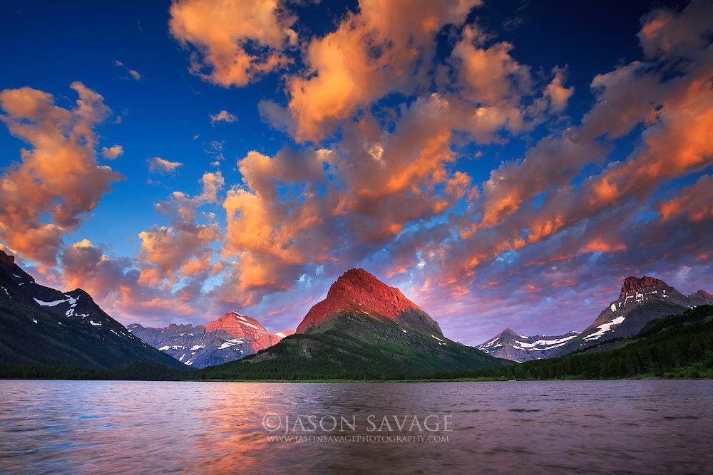 Sunrise over Swiftcurrent Lake, Glacier National Park, Montana