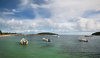 fishing boats in Esperanza Harbor, Vieques, Puerto Rico