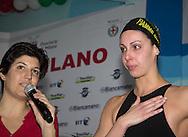 II Trofeo Città di Milano .Milano , Piscina D. Samuele 3-5 Febbraio 2012.Day01.Alessia Filippi - Fiamme Gialle.in lacrime al termine della sua gara 200 dorso F.Photo G.Scala/Deepbluemedia.eu