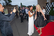 LIZZIE CUNDY; LIZ MCLARNON FROM ATOMIC KITTEN, The Grand Prix Ball, before the Formula One,<br /> British Grand Prix at Silverstone,The Hurlingham Club, London. 7 July 2010. -DO NOT ARCHIVE-© Copyright Photograph by Dafydd Jones. 248 Clapham Rd. London SW9 0PZ. Tel 0207 820 0771. www.dafjones.com.