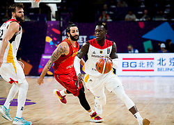 Ricky Rubio of Spain vs Dennis Schroder of Germany during basketball match between National Teams of Germany and Spain at Day 13 in Round of 16 of the FIBA EuroBasket 2017 at Sinan Erdem Dome in Istanbul, Turkey on September 12, 2017. Photo by Vid Ponikvar / Sportida