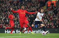 Football - 2016 / 2017 League [EFL] Cup - Fourth Round: Liverpool vs. Tottenham Hotspur<br /> <br /> Daniel Sturridge of Liverpool and Kieran Trippier of Tottenham Hotspur during the match at Anfield.<br /> <br /> COLORSPORT/LYNNE CAMERON