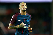 Paris Saint-Germain's French defender Layvin Kurzawa runs during the French championship L1 football match between Paris Saint-Germain (PSG) and Toulouse, on August 20, 2017, at the Parc des Princes, in Paris, France - Photo Benjamin Cremel / ProSportsImages / DPPI