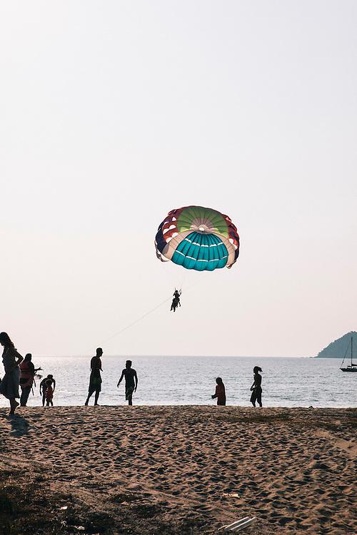 Para-sailing at Pentai Chanang beach, Langkawi