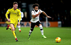 Ikechi Anya of Derby County goes past Tom Naylor of Burton Albion - Mandatory by-line: Robbie Stephenson/JMP - 21/02/2017 - FOOTBALL - iPro Stadium - Derby, England - Derby County v Burton Albion - Sky Bet Championship