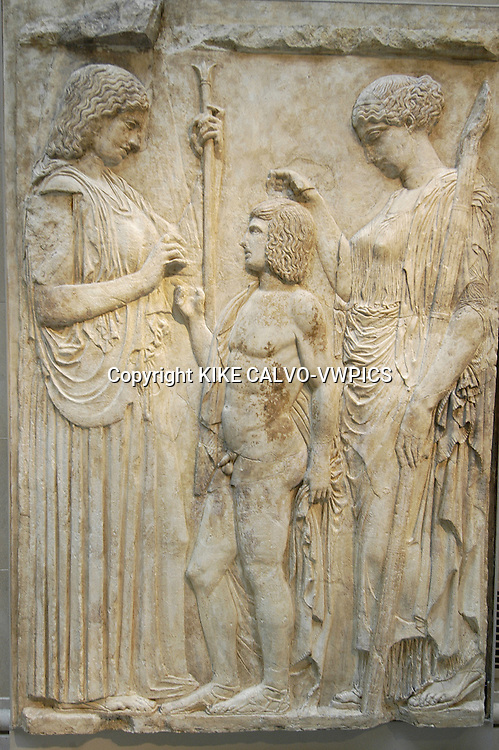 Ten marble fragments of the Great Eleusinian Relief. Roman, Augustan period. 27 BC - AD14.© KIKE CALVO.( culture, landmark, education, international, collection, piece, sculpture, painting, art, artistic, historic, historical, history, restauration, research B1276