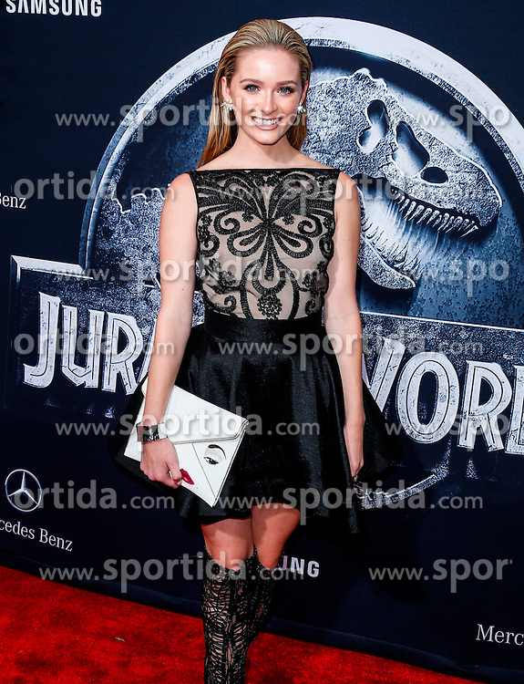 Greer Grammer, Jurassic World - World Premiere, at the Dolby Theatre, June 9, 2015 - Hollywood, California, CelebrityPhoto. com. EXPA Pictures &copy; 2015, PhotoCredit: EXPA/ Photoshot/ Celebrity Photo<br /> <br /> *****ATTENTION - for AUT, SLO, CRO, SRB, BIH, MAZ only*****