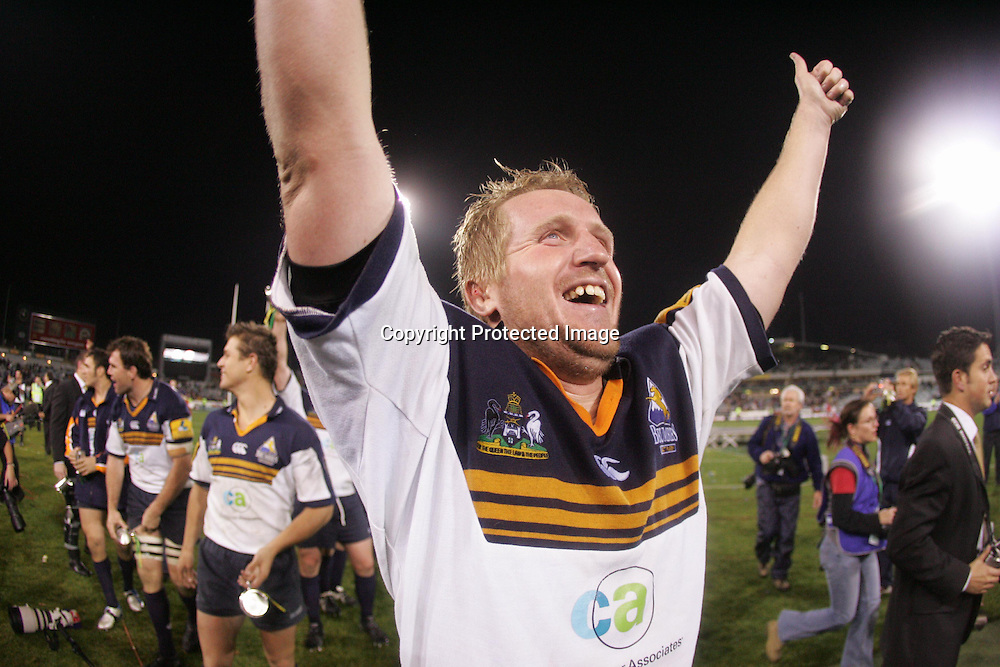 22 May, 2004. Super 12 Final, Canberra Stadium, Canberra ACT, Australia.<br /> Bill Young.<br /> The Brumbies defeated the Crusaders  48-37<br /> Please credit: Andrew Cornaga/Photosport