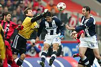 Fotball<br /> Bundesliga Tyskland 2004/05<br /> Bayer Leverkusen v Hertha Berlin<br /> 12. mars 2005<br /> Foto: Digitalsport<br /> NORWAY ONLY<br /> Diego Placente, Torwart Jorg Butt, Niko Kovac, Carsten Ramelow, Josip Simunic Hertha