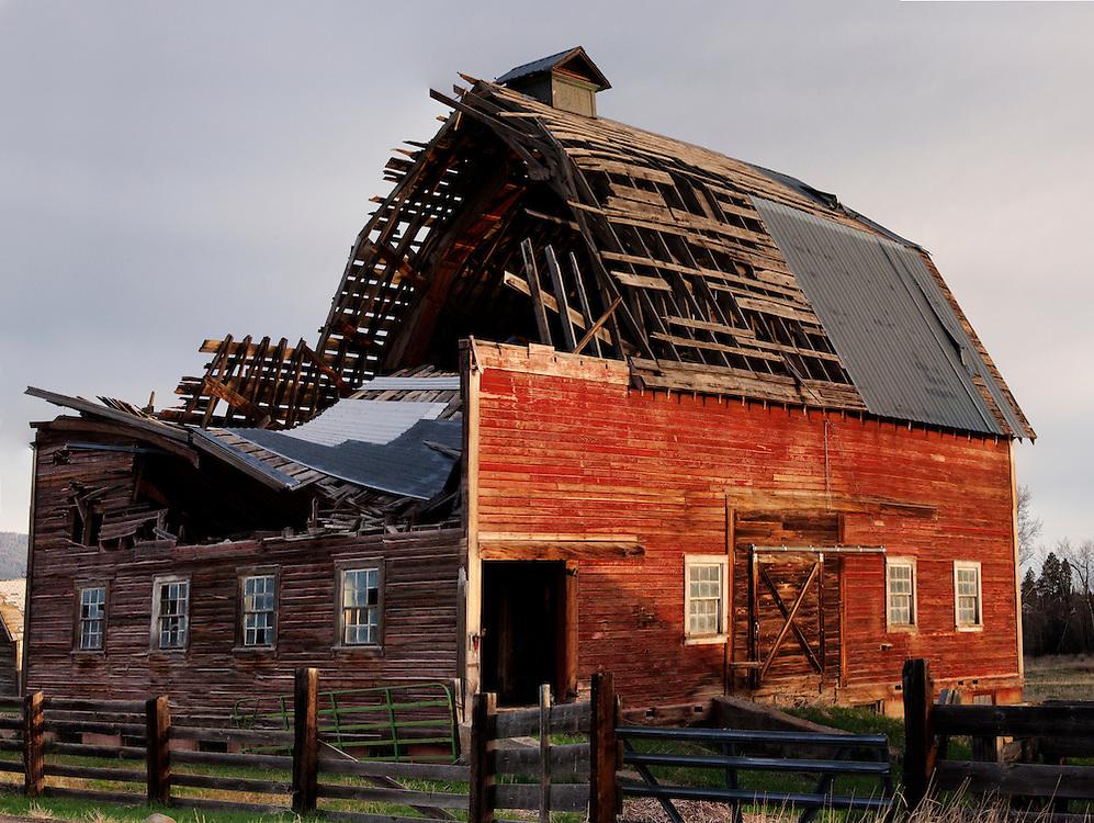 Barns near Joseph , Oregon near the Wallowa Mountains and the Eagle Cap Wilderness